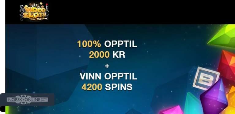 videoslots 100% opptil 2000 kr